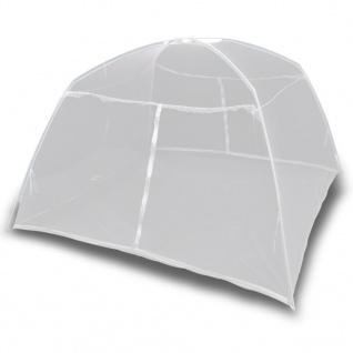 vidaXL Campingzelt 200×120×130 cm Fiberglas Weiß