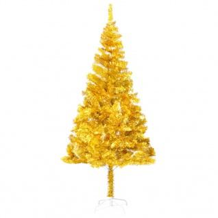 vidaXL Künstlicher Weihnachtsbaum mit Ständer Golden 180 cm PET