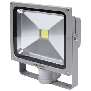 YATO LED-Fluter mit Bewegungsmelder 30 W Grau