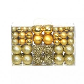 vidaXL 100-tlg. Weihnachtskugel-Set 6 cm Golden