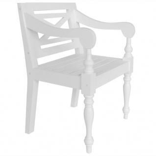 vidaXL Batavia-Stühle 2 Stk. Weiß Mahagoni Massivholz - Vorschau 2