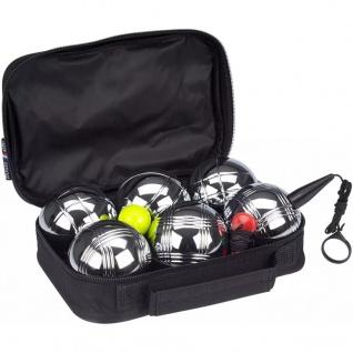 Get & Go Spiel Boule-Set VI 6 Kugeln Silber
