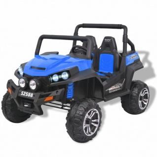 vidaXL Elektro-Aufsitzauto für 2 Personen XXL Blau und Schwarz
