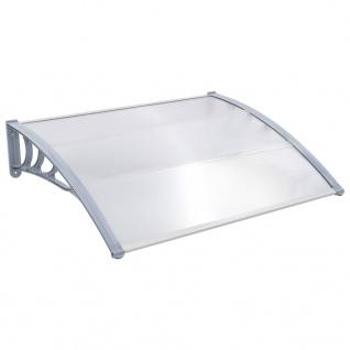 vidaXL Türvordach Grau 150x100 cm Kunststoff