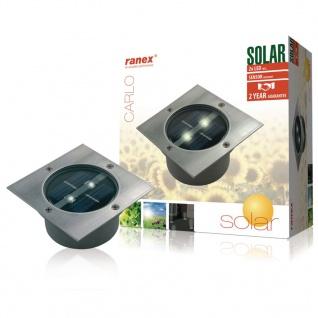Ranex Solar Bodenstrahler Quadratisch 0, 12 W Silber 5000.198