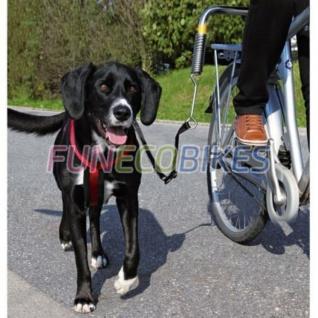 TRIXIE Fahrradleine für Hunde Set Silber und Schwarz 1287