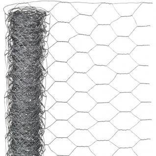 Nature Sechseckgeflecht 0, 5x2, 5 m 25 mm Verzinkter Stahl