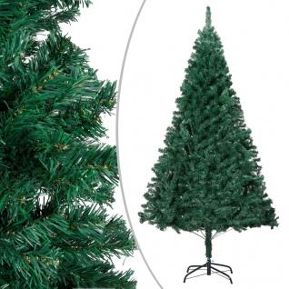vidaXL Künstlicher Weihnachtsbaum mit Dicken Zweigen Grün 210 cm PVC