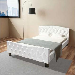vidaXL Doppelbett mit Memory-Schaum-Matratze 140 x 200 cm Weiß