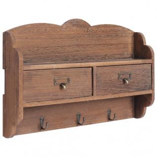 vidaXL Wandgarderobe Braun 50 x 10 x 34 cm Holz