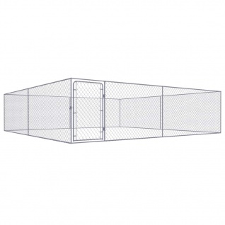 vidaXL Outdoor-Hundezwinger Verzinkter Stahl 4 x 4 m