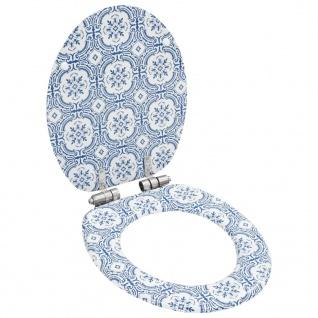vidaXL Toilettensitz mit Soft-Close-Deckel MDF Porzellan-Design