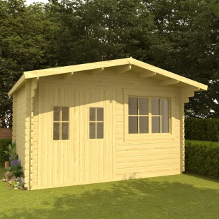 vidaXL Blockhaus 34 mm 400x376x256, 5 cm Massivholz Kiefer