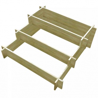 vidaXL Pflanzkasten aus imprägniertem Holz 3-etagig 90×90×35 cm