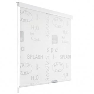 vidaXL Duschrollo 100 x 240 cm Splash-Design