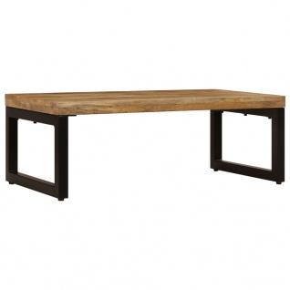 vidaXL Couchtisch 110 x 50 x 35 cm Mango-Massivholz und Stahl - Vorschau 2