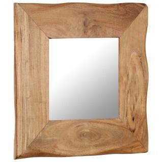 vidaXL Kosmetikspiegel 50 x 50 cm Akazie Massivholz