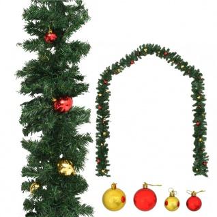 vidaXL Weihnachtsgirlande Geschmückt mit Kugeln 20 m