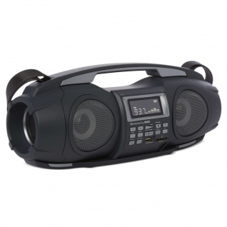 Nikkei Tragbare Boombox mit MP3 Fatboy NGB3601BK 2×5 W Schwarz