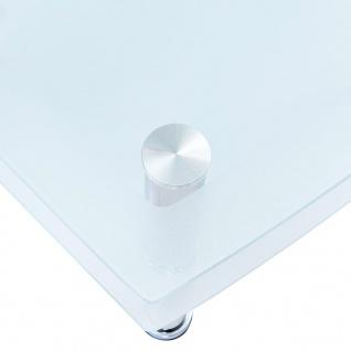 vidaXL Couchtisch Weiß 100×60×42 cm Hartglas - Vorschau 4