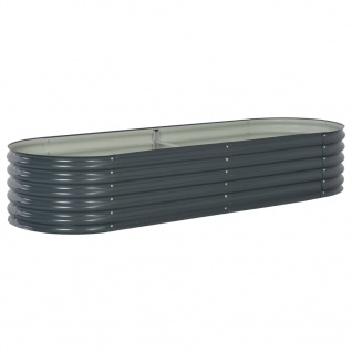 vidaXL Garten-Hochbeet 240x80x44 cm Verzinkter Stahl Grau