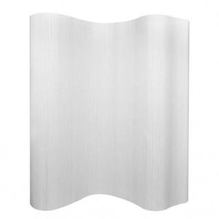 vidaXL Raumteiler Bambus Weiß 250×195 cm