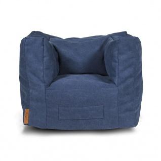 Jollein Sitzsack 46 x 40 x 37 cm Marineblau 028-543-65060