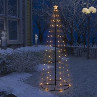 vidaXL Weihnachtskegelbaum 100 Warmweiße LEDs Dekoration 70x180 cm
