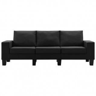 vidaXL 3-Sitzer-Sofa Schwarz Stoff - Vorschau 4