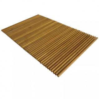 vidaXL Badematte Akazienholz 80x50 cm