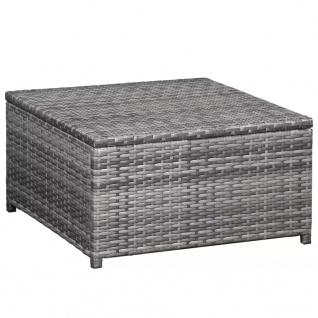 vidaXL 6-tlg. Garten-Lounge-Set mit Auflagen Poly Rattan Grau - Vorschau 2