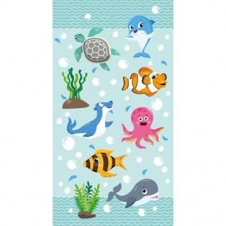 Good Morning Strandtuch SEAWORLD 75×150 cm Aquablau