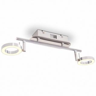 vidaXL LED-Deckenleuchte Wandleuchte mit 2 Lampen Warmweiß
