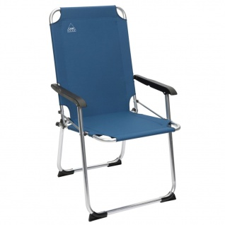 Camp Gear Klapp-Campingstuhl Comfort Blau Aluminium 1211944