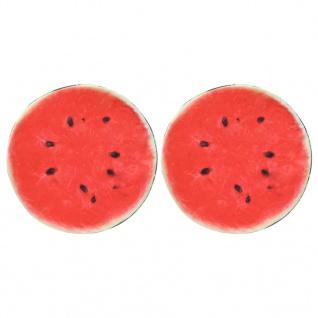 vidaXL Kissen 2 Stk. Fruchtoptik Wassermelone