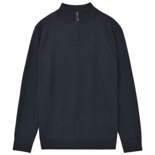 vidaXL Herren Pullover Sweater mit Reißverschluss Marineblau XL