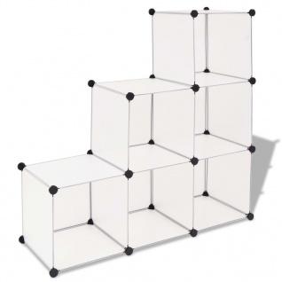 vidaXL Regalsystem Würfel-Regal mit 6 Fächern Weiß
