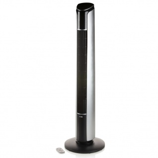 DOMO Turmventilator 107 cm 45 W Schwarz und Silbern