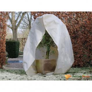 Nature Wintervlies mit Reißverschluss 70 g/m² Beige 2×2, 5 m