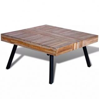 vidaXL Couchtisch Quadratisch Recyceltes Holz Teak