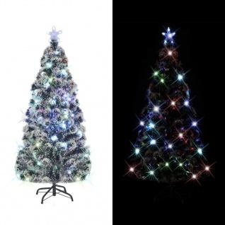 vidaXL Künstlicher Weihnachtsbaum mit Ständer/LED 210 cm 280 Zweige