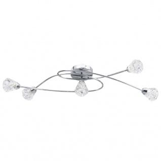 vidaXL Deckenleuchte mit Glas-Lampenschirmen für 5 G9-Leuchtmittel - Vorschau 2
