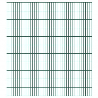 vidaXL 2D Gartenzaun-Elemente 2, 008x2, 23 m Gesamtlänge 36 m Grün