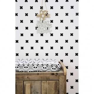 Fabulous World Tapete Cross Weiß und Schwarz 67104-6 - Vorschau 3