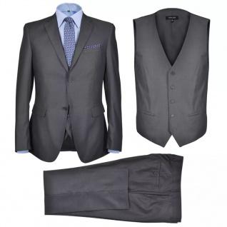 Business Anzug für Herren 3-teilig Grau Gr. 46
