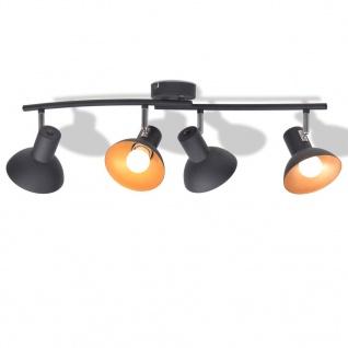 vidaXL Deckenlampe für 4 Glühbirnen E27 Schwarz und Gold