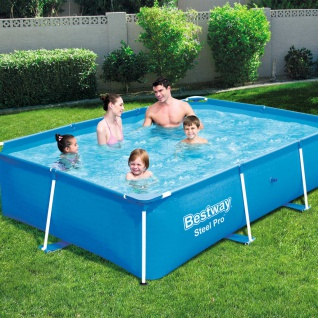 Bestway Steel Pro Swimming Pool mit Stahlrahmen 259x170x61 cm 56403