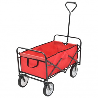 vidaXL Klappbarer Handwagen Stahl Rot