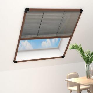 vidaXL Insektenschutz-Plissee für Fenster Aluminium Braun 110x160 cm