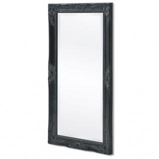 vidaXL Wandspiegel im Barock-Stil 100x50 cm Schwarz